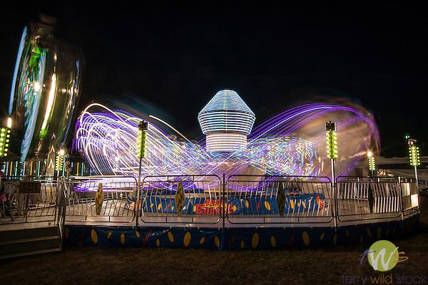 Lycoming County fair at night