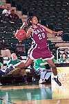 Arkansas Little Rock Trojans forward Shanity James (20) in action during the game between the Arkansas Little Rock Trojans and the North Texas Mean Green at the Super Pit arena in Denton, Texas. UALR defeats UNT 52 to 48...