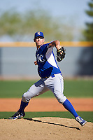 Kansas City Royals pitcher Corey Ray (48) during an Instructional League game against the Texas Rangers on October 4, 2016 at the Surprise Stadium Complex in Surprise, Arizona.  (Mike Janes/Four Seam Images)