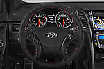 Car pictures of steering wheel view of a 2015 Hyundai I30 Turbo 3 Door Hatchback