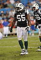 JAMALL WESTERMAN, of the New York Jets in action during the Jets game against the Carolina Panthers  at Bank of America Stadium in Charlotte, N.C.  on August 21, 2010.  The Jets beat the Panthters 9-3 in the second week of preseason games...