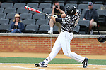21 May 2016: Wake Forest's Gavin Sheets hits a home run. The Wake Forest University Demon Deacons played the University of Louisville Cardinals in an NCAA Division I Men's baseball game at David F. Couch Ballpark in Winston-Salem, North Carolina. Louisville won the game 9-4.