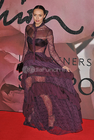 Laura Haddock at the Fashion Awards 2016, Royal Albert Hall, Kensington Gore, London, England, UK, on Monday 05 December 2016. <br /> CAP/CAN<br /> ©CAN/Capital Pictures /MediaPunch ***NORTH AND SOUTH AMERICAS ONLY***