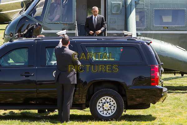 United States President Barack Obama arrives in Baltimore, Maryland aboard Marine One on May 17, 2013..car half length .CAP/ADM/CNP/KT.©Kristoffer Tripplaar/CNP/AdMedia/Capital Pictures