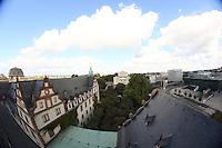 Blick auf das Residenzschloss und das Darmstadtium