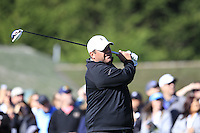 Brian Thompson tees off the 1st tee at Pebble Beach Golf Links during Saturday's Round 3 of the 2017 AT&amp;T Pebble Beach Pro-Am held over 3 courses, Pebble Beach, Spyglass Hill and Monterey Penninsula Country Club, Monterey, California, USA. 11th February 2017.<br /> Picture: Eoin Clarke | Golffile<br /> <br /> <br /> All photos usage must carry mandatory copyright credit (&copy; Golffile | Eoin Clarke)