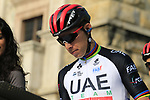 Rui Costa (POR) UAE Team Emirates at sign on before the start of the 112th edition of Il Lombardia 2018, the final monument of the season running 241km from Bergamo to Como, Lombardy, Italy. 13th October 2018.<br /> Picture: Eoin Clarke | Cyclefile<br /> <br /> <br /> All photos usage must carry mandatory copyright credit (© Cyclefile | Eoin Clarke)