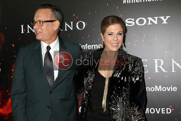 "Rita Wilson, Tom Hanks<br /> at the ""Inferno"" Los Angeles Premiere, DGA, Los Angeles, CA 10-25-16<br /> David Edwards/DailyCeleb.com 818-249-4998"