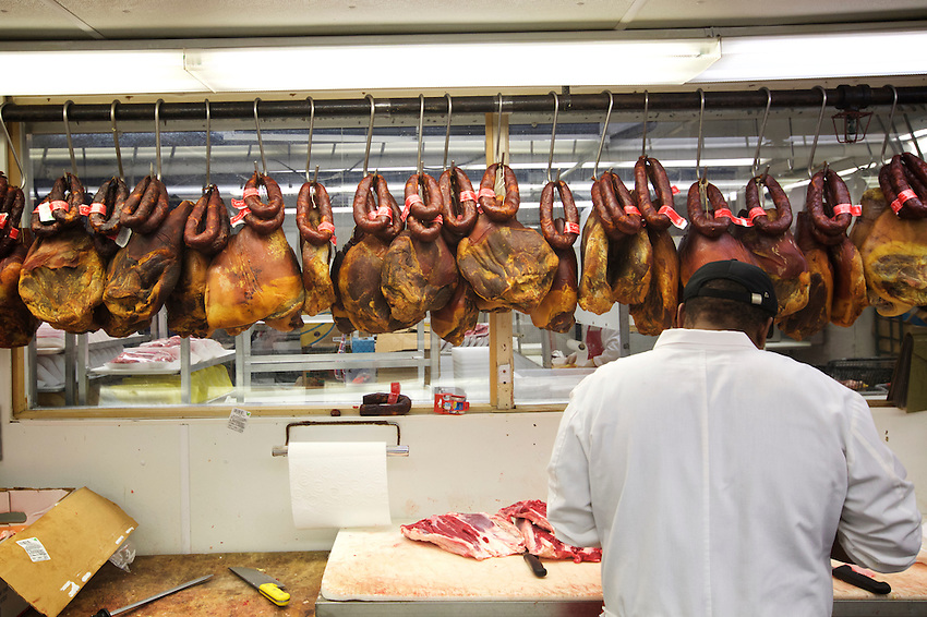 Newark, NJ - JANUARY 16, 2016: A&amp;J Seabras Supermarket. Part of a tour of the Portuguese shops and restaurants of Newark's Ironbound neighborhood with Chef David Santos.<br /> <br /> CREDIT: Clay Williams for Gothamist.<br /> <br /> &copy; Clay Williams / claywilliamsphoto.com