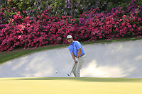 Patton Kizzire (USA) on the 13th green during the 1st round at the The Masters , Augusta National, Augusta, Georgia, USA. 11/04/2019.<br /> Picture Fran Caffrey / Golffile.ie<br /> <br /> All photo usage must carry mandatory copyright credit (© Golffile | Fran Caffrey)