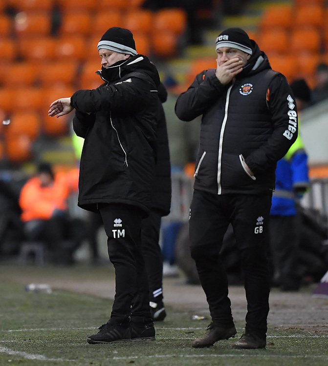 Blackpool's Manager Terry McPhillips<br /> <br /> Photographer Dave Howarth/CameraSport<br /> <br /> The EFL Sky Bet League One - Blackpool v Wycombe Wanderers - Tuesday 29th January 2019 - Bloomfield Road - Blackpool<br /> <br /> World Copyright © 2019 CameraSport. All rights reserved. 43 Linden Ave. Countesthorpe. Leicester. England. LE8 5PG - Tel: +44 (0) 116 277 4147 - admin@camerasport.com - www.camerasport.com