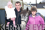 READY: Ella and Pat O'Sullivan with Aoife Johnson, Killorglin getting ready for the hunt in Killorglin, on Sunday.   Copyright Kerry's Eye 2008