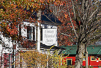 Conway Historical Society in autumn color, Conway, New Hampshire, USA.
