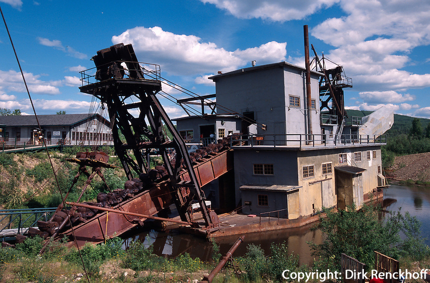 USA, Alaska, Bagger in der Goldmine Golddredge Nr. 8 bei Fairbanks
