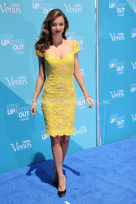 WWW.ACEPIXS.COM<br /> June 04, 2013, New York City<br /> Model Miranda Kerr attends The Gillette Venus Step Up &amp; Step Out Summer Tour Kick Off at Pedestrian Plaza in Times Square on June 4, 2013 in New York City. <br /> By Line: Kristin Callahan/ACE Pictures<br /> ACE Pictures, Inc.<br /> tel: 646 769 0430<br /> Email: info@acepixs.com<br /> www.acepixs.com<br /> Copyright:<br /> Kristin Callahan/ACE Pictures