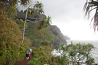 Images of the Na Pali Coast taken from viewpoints on the Kalalau Trail on the north shore of Kauai, HI