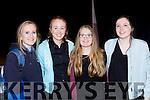 Ellen Cronin, Jennifer murphy, Alisha Ní Chronin and Aoife Kelliher enjoying the play Patrick in Rathmore Community Hall on Monday night