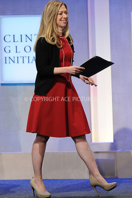 WWW.ACEPIXS.COM<br /> September 24, 2013 New York City<br /> <br /> Chelsea Clinton on stage during the annual Clinton Global Initiative (CGI) meeting on September 24, 2013 in New York City.<br /> <br /> By Line: Kristin Callahan/ACE Pictures<br /> <br /> ACE Pictures, Inc.<br /> tel: 646 769 0430<br /> Email: info@acepixs.com<br /> www.acepixs.com<br /> <br /> Copyright: Kristin Callahan/ACE Pictures