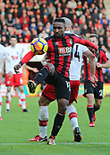 3rd December 2017, Vitality Stadium, Bournemouth, England; EPL Premier League football, Bournemouth versus Southampton; Jermain Defoe of Bournemouth controls the high ball