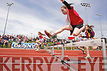 Girls u-10 60m Hurdles at the Kerry community games athlethics finals at an Riocht, Castleisland on Sunday.