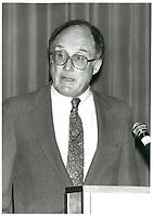 US Supreme court judge William REHNQUIST speak before the Montreal Bar association, september 2, 1987<br /> <br /> <br /> <br /> PHOTO : Agence Quebec Presse