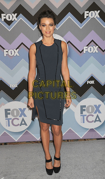 Natalie Zea.arriving at the 2013 TCA Winter Press Tour - FOX All-Star Party at The Langham Huntington Hotel and Spa in Pasadena, California, USA, .January 8th, 2013.   .full length sleeveless grey gray dress black shoes  .CAP/ROT/TM.©Tony Michaels/Roth Stock/Capital Pictures