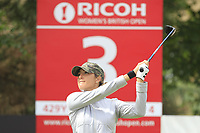 Jaye Marie Green (USA) on the 3rd tee during Round 3 of the Ricoh Women's British Open at Royal Lytham &amp; St. Annes on Saturday 4th August 2018.<br /> Picture:  Thos Caffrey / Golffile<br /> <br /> All photo usage must carry mandatory copyright credit (&copy; Golffile | Thos Caffrey)