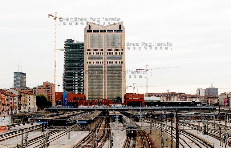 Italia, Milano. Stazione Garibaldi e grattacieli FS..Italy, Milan.Garibaldi railway station and FS's skyscrapers. .© Andrea Pagliarulo