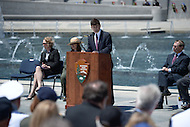 "Washington, DC - June 6, 2014: Elliott ""Toby"" Roosevelt III, great-grandson of President Franklin Delano Roosevelt, speaks during a ceremony in remembrance of the 70th anniversary of the D-Day invasion at the National World War II Memorial  in the District of Columbia.  (Photo by Don Baxter/Media Images International)"