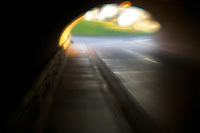Tunnel from Monarch Beach Golf Course to golf course on the ocean side of the beach, Salt Creek