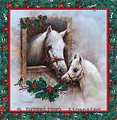 GIORDANO, CHRISTMAS ANIMALS, WEIHNACHTEN TIERE, NAVIDAD ANIMALES, paintings+++++,USGI2433WB,#XA# horse,horses