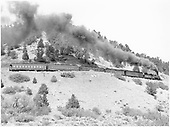 #476 with 5 car San Juan between Carbon Junction and Florida.  RPO, baggage car, 2 closed vestibule coaches and observation car.<br /> D&amp;RGW    Taken by Richardson, Robert W. - 9/16/1948
