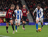Bournemouth's David Brooks (left) under pressure from Brighton & Hove Albion's Davy Propper (right) <br /> <br /> Photographer David Horton/CameraSport<br /> <br /> The Premier League - Bournemouth v Brighton and Hove Albion - Saturday 22nd December 2018 - Vitality Stadium - Bournemouth<br /> <br /> World Copyright © 2018 CameraSport. All rights reserved. 43 Linden Ave. Countesthorpe. Leicester. England. LE8 5PG - Tel: +44 (0) 116 277 4147 - admin@camerasport.com - www.camerasport.com