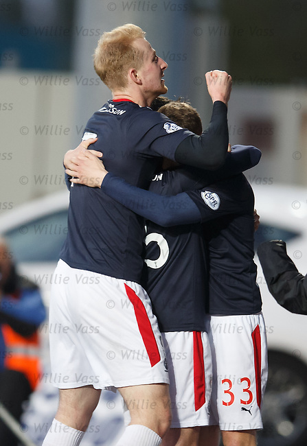 Mark Beck celebrates his goal for Falkirk