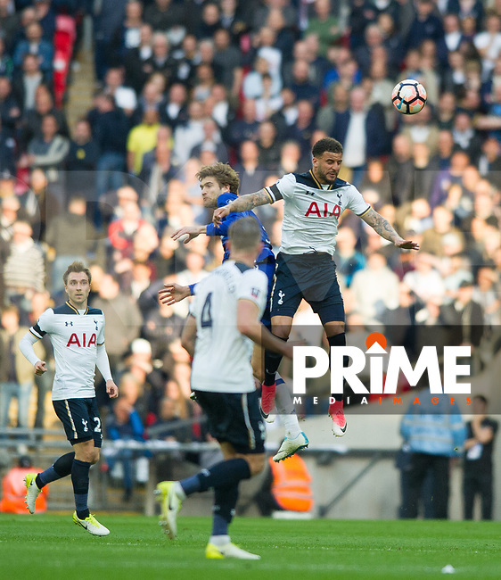 Tottenham's Kyle Walker during the FA Cup Semi Final match between Chelsea and Tottenham Hotspur at Wembley Stadium, London, England on 22 April 2017. Photo by Andrew Aleksiejczuk / PRiME Media Images.
