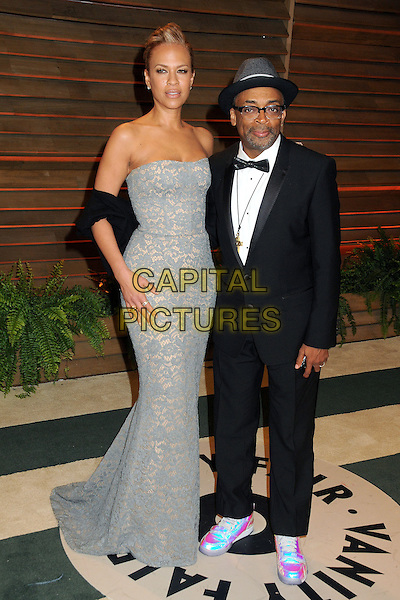 02 March 2014 - West Hollywood, California - Tonya Lewis Lee, Spike Lee. 2014 Vanity Fair Oscar Party following the 86th Academy Awards held at Sunset Plaza. <br /> CAP/ADM/BP<br /> &copy;Byron Purvis/AdMedia/Capital Pictures