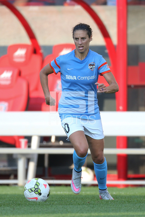 Bridgeview, IL - September 6, 2015: The Chicago Red Stars tied the Houston Dash by the score of 1-1 at Toyota Park.
