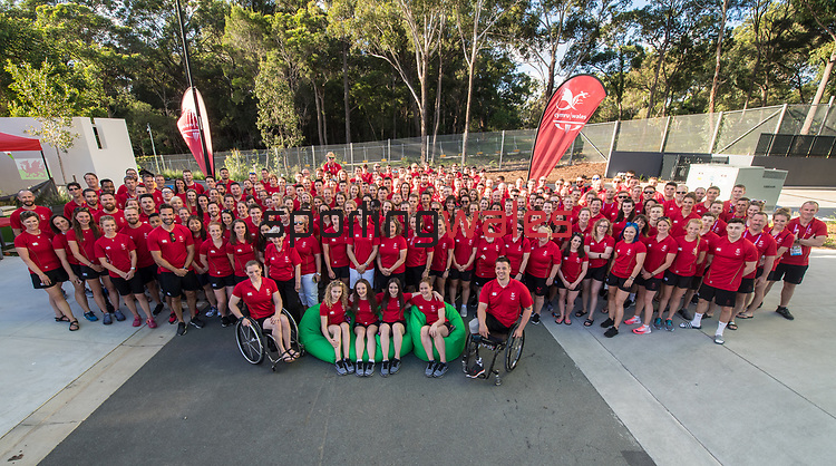 Team Wales at the Athletes Village in Gold Coast.<br />