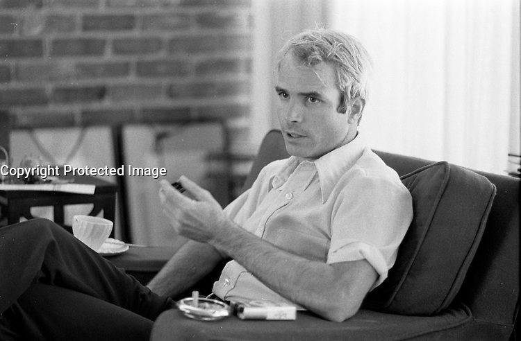 File Photo -  John McCain in 1973 after his return from North-Vietnam prison