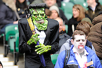 Fans enjoying the monster theme during Day Two of the iRB Marriott London Sevens at Twickenham on Sunday 11th May 2014 (Photo by Rob Munro)