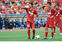 (L-R) Mitsuo Ogasawara,Takuya Nozawa (Antlers), MAY 3rd, 2011 - Football : Mitsuo Ogasawara and Takuya Nozawa of Kashima Antlers prepare to take a free kick during the AFC Champions League Group H match between Kashima Antlers 2-0 Shanghai Shenhua at National Stadium in Tokyo, Japan. (Photo by Takamoto Tokuhara/AFLO).