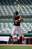 Pittsburgh Pirates shortstop Ji-Hwan Bae (56) at bat during a Florida Instructional League game against the Baltimore Orioles on September 22, 2018 at Ed Smith Stadium in Sarasota, Florida.  (Mike Janes/Four Seam Images)