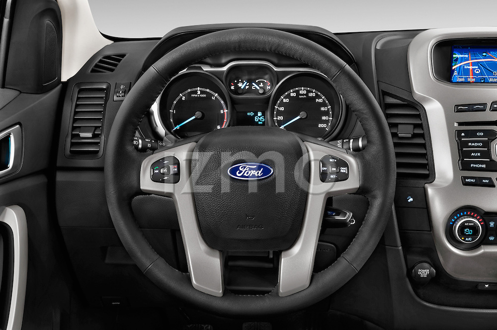 Car pictures of steering wheel view of a2014 Ford Ranger Limited 4 Door Pickup Steering Wheel