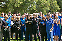 Durham and regional emergency personnel attend a memorial service at Duke Chapel for the three Duke LifeFlight team members and patient who died in a helicopter crash on September 8. RN flight nurses Kris Harrison and Crystal Sollinger, pilot Jeff Burke, were transporting and treating patient Mary Bartlett, 70, when the LifeFlight helicopter crashed.