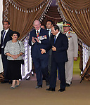 Egyptian President Abdel Fattah al-Sisi receivs Australian Governor-general Sir Peter Cosgrove at El Alamein War Cemetary, during a ceremony marking 75 years since the pivotal WWII battle in the Egyptian Mediterranean town of the same name, about 100 kilometres (62 miles) west of Alexandria on October 21, 2017. The World War II Battle of El Alamein -- which began on October 23, 1942 -- pitched the Allied forces of British Field Marshal Bernard Montgomery's against his German counterpart Erwin Rommel's Afrika Korps. Photo by Egyptian President Office