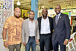 MIAMI, FL - DECEMBER 05: (R-L) Richard Nelson, Actor Jimmy Jean-Louis, Haiti Counsel General Stephane Gilles and Mecca Grimo Marcelin attends the NE2P Art Beat Miami Chef Creole Celebrity Brunch at the Little Haiti Cultural Center on Saturday December 05, 2015 in Doral, Florida.  ( Photo by Johnny Louis / jlnphotography.com )