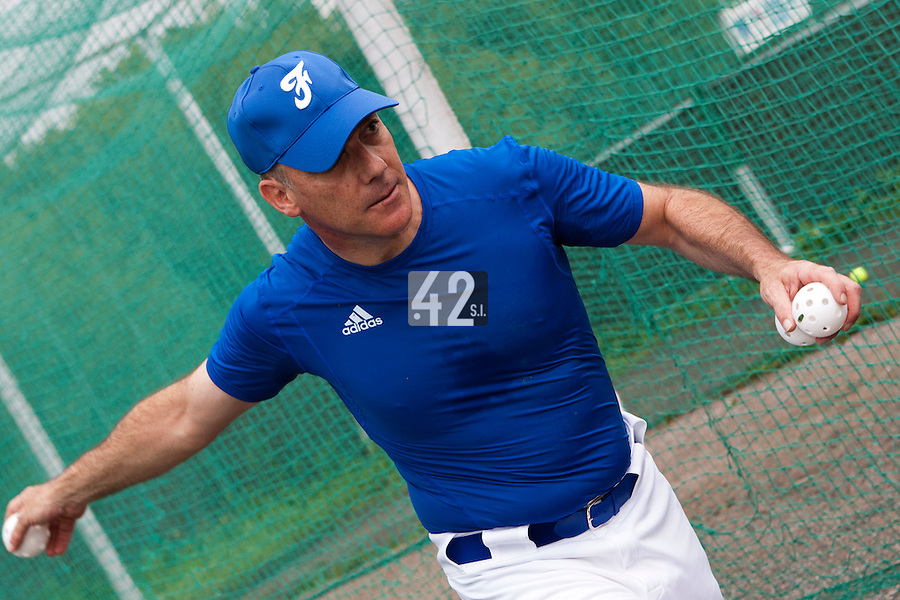 21 June 2011: Philippe Dedea of France is seen during UCLA Alumni 5-3 win over France, at the 2011 Prague Baseball Week, in Prague, Czech Republic.