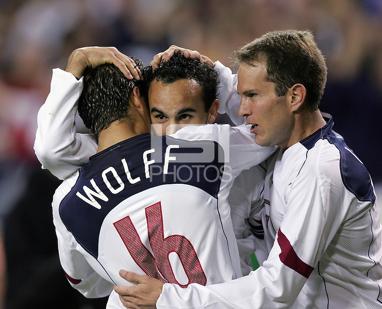 Josh Wolff, Landon Donovan, and Eddie Lewis, Panama vs USA, World Cup qualifier at RFK Stadium, 2004.