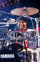Carter Beauford of Dave Matthews Band performs during Summer 2013 at Cruzan Amphitheatre, West Palm Beach, FL, July 19, 2013