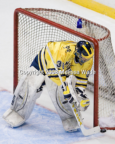 Billy Sauer (Michigan 36) - The University of Michigan Wolverines defeated the Niagara University Purple Eagles 5-1 in their Friday, March 28, 2008, East Regional Semi-Final at the Times Union Center in Albany, New York.